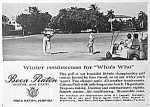 Click here to enlarge image and see more about item GO0322AA1: 1961 BOCA RATON FLORIDA Golf Club Ad