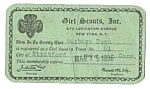 Click here to enlarge image and see more about item GS0504AA1: 1936 GIRL SCOUT Membership Card