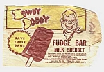 Click here to enlarge image and see more about item HD0525AA1: 1950s HOWDY DOODY Fudge Bar Premium Bag