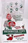 Click here to enlarge image and see more about item HD1201A8: 1950s HOWDY DOODY+ Friends Adv Apple Bag