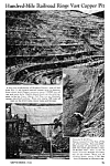 Click here to enlarge image and see more about item HI0122A1: 1941 BINGHAM CANYON, COPPER MINE RAILROAD Mag. Article