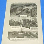 Click here to enlarge image and see more about item HI1002AA1: 1918 WELLAND CANAL-SHIP BISECTION Mag Article