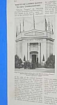 1918 PORTLAND, OREGON LIBERTY TEMPLE BUILT Mag. Article