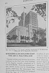 Click here to enlarge image and see more about item HI301AD3: 1927 L.A. CALIFORNIA Elks' Club Building Mag. Article