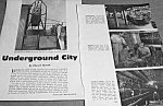 1961 UNDERGROUND CITY in NEW YORK CITY NYC Mag. Article