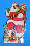 Click here to enlarge image and see more about item HO0514AA1: 1950s SANTA CLAUS Adv. Diecut Card