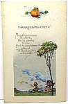 Click here to enlarge image and see more about item HO1031A1: Nice Early THANKSGIVING Holiday Postcard