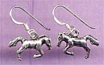 Click here to enlarge image and see more about item HORSEEAR: NEW-Sterling-Gorgeous HORSE Dangle Earrings