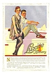 Click here to enlarge image and see more about item IL0122A1: 1918 C. COLES PHILLIPS Illustr. LUXITE HOSIERY Mag Ad