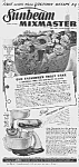 Click here to enlarge image and see more about item KI0614AA3: 1942 SUNBEAM Mixmaster Mixer w/Juicer Ad