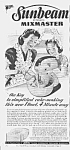 Click here to enlarge image and see more about item KI0614AA6: 1944 SUNBEAM Mixmaster Mixer Ad