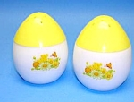 Click here to enlarge image and see more about item KITCH901AA5: 1960s EGG SHAPED Yellow Salt & Peppers