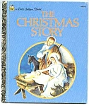 Click here to enlarge image and see more about item LGB456-15: CHRISTMAS STORY Little Golden Book Wilkin