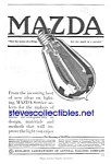 Click here to enlarge image and see more about item MAD010407A7: Gorgeous 1918 ART DECO Mazda Light Bulb Ad
