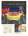1959 PYREX Colored Glass Cookware Magazine Ad