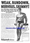 Click here to enlarge image and see more about item MAD022607F5: 1936 DON'T BE SKINNY Magic Muscle Cure Ad