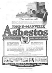 Click here to enlarge image and see more about item MAD030507F7: 1917 JOHNS-MANVILLE ASBESTOS Ad