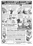 Click here to enlarge image and see more about item MAD032406A9: 1933 LEARN TAXIDERMY at Home Mag. Ad