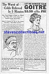 Click here to enlarge image and see more about item MAD051407E7: 1914 QUACK CURE Ad Page - COLDS - GOITRE!!