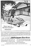 1966 JOHNSON SKEE-HORSE SNOWMOBILE Magazine Ad