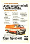 Click here to enlarge image and see more about item MADAU031606D5: 1972 DODGE MAXIVAN Truck Ad