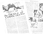 1926 TRICKS OF CAMPING OUT Mag. Article