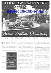 1934 AIRFLOW CHRYSLER Auto Ad