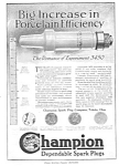 1918 CHAMPION Spark Plug Sparkplug Automotive Ad