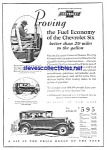 Click here to enlarge image and see more about item MAU030707F6: 1929 CHEVROLET Six Auto Ad