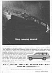 Click here to enlarge image and see more about item MAU032206C2: 1964 JEEP WAGONEER Car Magazine Ad