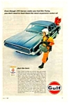 1967 FORD THUNDERBIRD - GULFPRIDE OIL CAN Ad