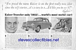 1949 KAISER TRAVELER Auto Automobile Car Ad