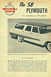 1958 PLYMOUTH CUSTOM SUBURBAN-Cadillac Car Articles