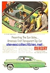 1954 Transparent-Top MERCURY Auto Magazine Ad