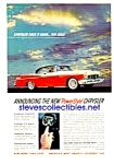 1956 CHRYSLER Push-Button Transmission Auto Magazine Ad