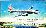 Click here to enlarge image and see more about item MAV112006A7: 1950s EASTERN AIRLINES SILVER FALCON Postcard
