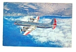 Click here to enlarge image and see more about item MAV112706H9: c.1960 AMERICAN AIRLINES Electra Flagship Postcard