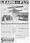 Click here to enlarge image and see more about item MAV122106F4: 1926 Sweeney School - Aviation LEARN TO FLY Ad