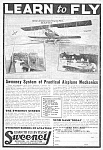 Click here to enlarge image and see more about item MAV122806D5: 1927 Sweeney School/Aviation LEARN TO FLY Ad