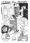 Click here to enlarge image and see more about item MBI032406A5: 1933 BUILD BIRD AVIARY Magazine Article