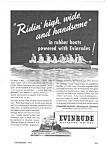 Click here to enlarge image and see more about item MBT040306C2: 1943 WWII EVINRUDE BOAT MOTOR Mag. Ad - Military Theme