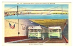 1950s DETROIT-WINDSOR TUNNEL Busses, Canada Postcard