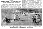1926 MOTORCYCLE RACING CHARIOTS Mag. Article