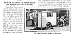 1926 MOTORCYCLE CAMPING TRAILER Mag. Article