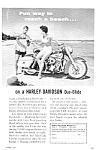 Click here to enlarge image and see more about item MC0218A1-2006: 1960 HARLEY DAVIDSON Motorcycle Ad