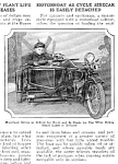Click here to enlarge image and see more about item MC0219A2-2006: 1926 MOTORCYCLE WITH BOAT SIDECAR Mag. Article