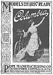 Click here to enlarge image and see more about item MC0419AA5: 1897 COLUMBIA BICYCLE Magazine Ad L@@K!