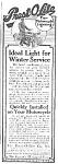 Click here to enlarge image and see more about item MC0422AA2: 1918 Prest-O-Lite MOTORCYCLE LIGHTING Ad