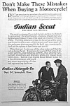 Click here to enlarge image and see more about item MC0527G1: 1926 INDIAN SCOUT Motorcycle Ad L@@K!