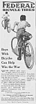 Click here to enlarge image and see more about item MC0628AA1: 1918 Federal BICYCLE TIRE Ad